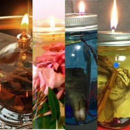 Huiles préparées pour Lampes Hoodoo & Païennes